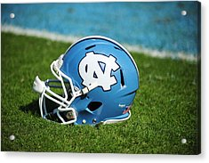 North Carolina Tar Heels Football Helmet Acrylic Print by Replay Photos