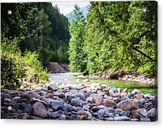 North Cascades Rivers And Rocks Landscape Photography By Omashte Acrylic Print by Omaste Witkowski