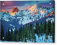 North Cascades Sunset Acrylic Print by Inge Johnsson