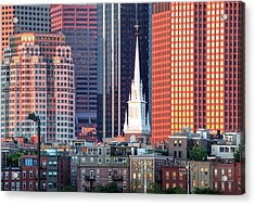 North Church Steeple Acrylic Print by Susan Cole Kelly