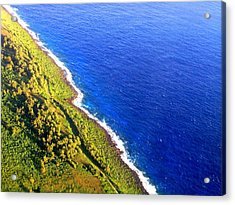 Acrylic Print featuring the photograph North Coast Of Tinian At Sunrise by MB Dallocchio