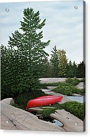 North Country Canoe Acrylic Print by Kenneth M  Kirsch
