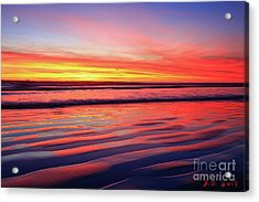 North County Sand Ripples Acrylic Print