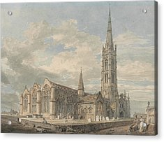 North East View Of Grantham Church Lincolnshire Acrylic Print by Joseph Mallord William Turner