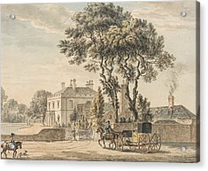 North-east View Of Sir John Elvil's House On Englefield Green Near Egham In Surrey Acrylic Print by Paul Sandby
