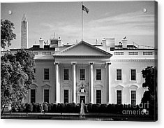 north facade from pennsylvania avenue the white house with washington monument in the background Was Acrylic Print