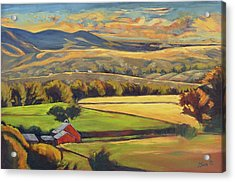 North Fork Panorama Acrylic Print