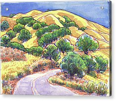 North Gate Road, Mount Diablo Acrylic Print