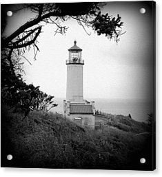 North Head Lighthouse Bw Acrylic Print by Mg Blackstock