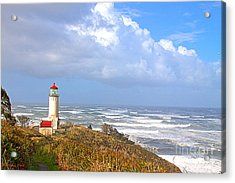 North Head Lighthouse Acrylic Print by Larry Keahey
