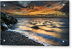 North Jetty Sunset Acrylic Print