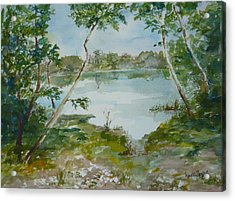 North Lake Acrylic Print by Dorothy Herron