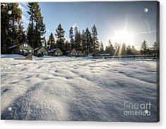 North Lake Tahoe Beach Snow Acrylic Print by Dustin K Ryan