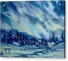 North-of-aurora Acrylic Print by Nancy Newman