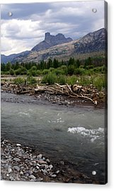 North Of Dubois Wy Acrylic Print by Marty Koch