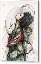 Beautiful Lady Acrylic Print