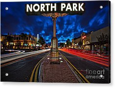 North Park Neon Sign San Diego California Acrylic Print