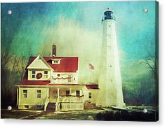 North Point Lighthouse Keeper's Quarters Acrylic Print