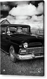 North Rustico Vintage Car Prince Edward Island Acrylic Print by Edward Fielding