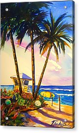 North Shore Lifeguard Hut Acrylic Print by Therese Fowler-Bailey