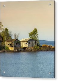 North Shore Old Buildings Acrylic Print by Bill Tiepelman