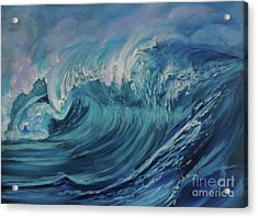North Shore Wave Oahu Acrylic Print