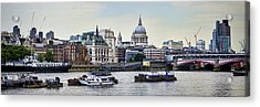 North Side Of The Thames Acrylic Print
