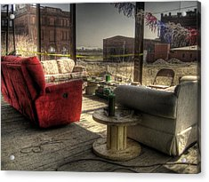North St. Louis Porch Acrylic Print by Jane Linders