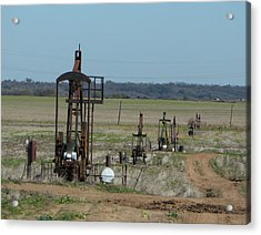 North Texas Shallow Oil Field Acrylic Print by Richard Dalton