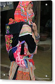 North Vietnamese Lady With Baby Acrylic Print