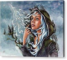North Wind Acrylic Print by Christine Karron