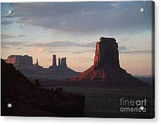 North Window At Sunset Acrylic Print by Stan and Anne Foster