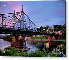 Northampton Street Bridge At Sunset Acrylic Print