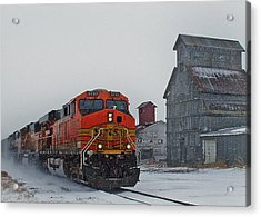 Northbound Winter Coal Drag Acrylic Print