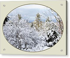 northeast USA photography button Acrylic Print