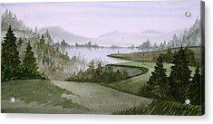 Northern Lake Golf Acrylic Print by Sean Seal