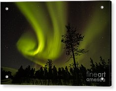 Northern Light In Finland Acrylic Print