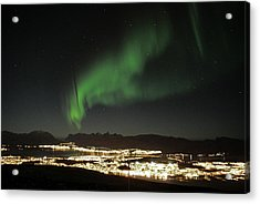 Northern Light In Troms, North Of Norway Acrylic Print