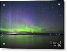Northern Light With Perseid Meteor Acrylic Print