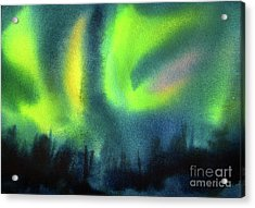 Acrylic Print featuring the painting Northern Lights 3 by Kathy Braud