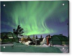 Northern Lights And Glass Igloo Acrylic Print