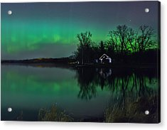 Northern Lights At Gull Lake Acrylic Print