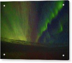 Northern Lights Or Auora Borealis Acrylic Print