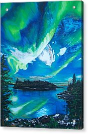 Northern Lights  Acrylic Print by Sharon Duguay
