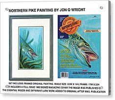 Northern Pike Original Acrylic Print by JQ Licensing