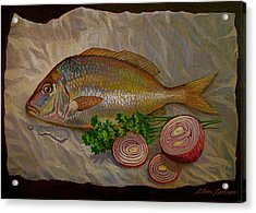 Northern Scup With Dill Onion Acrylic Print by Alan Carlson