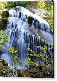 Northfork Falls Acrylic Print by Marty Koch