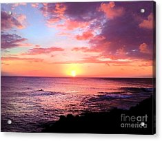 Northshore Sunset Acrylic Print by Kristine Merc