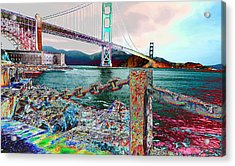 Northward On The Bridge Acrylic Print
