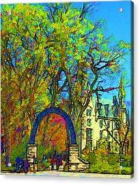 Northwestern Arch  Acrylic Print